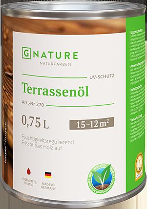 G Nature 270 (Джи Натур масло для террас) объем 0,375 л.