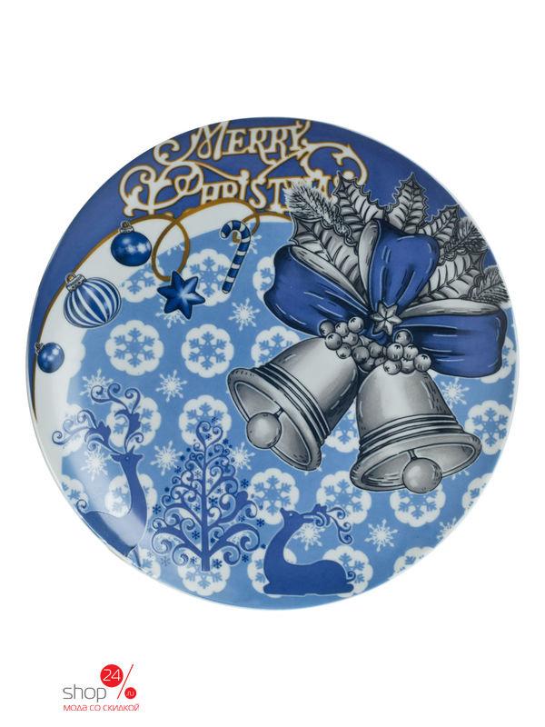 Тарелка, 20 см Elff Decor, цвет синий, голубой, белый, 2300568
