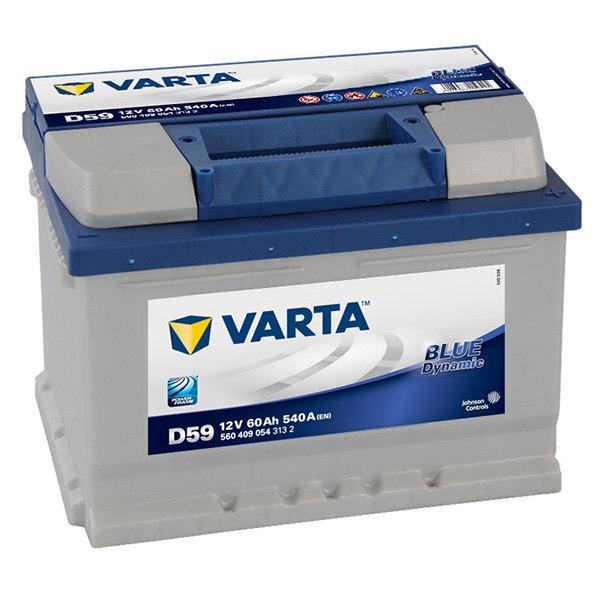 Аккумулятор автомобильный Varta Blue Dynamic D59 6СТ-60 обр. (низкий) 560 409 054 313 2 60Ач обр.