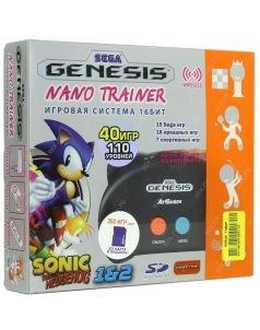 SEGA Genesis Nano Trainer + 390 игр Черная + SD Портативная игровая консоль