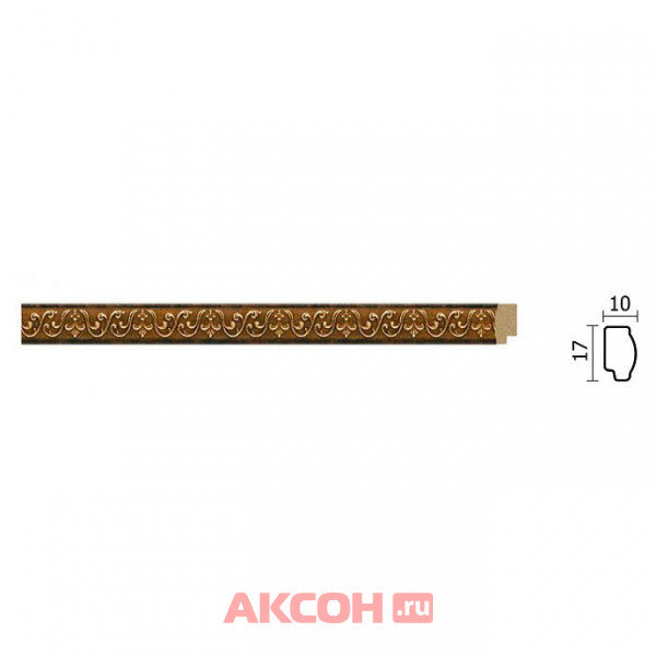 молдинг decor-dizayn 17*10*2400мм 158-767/56