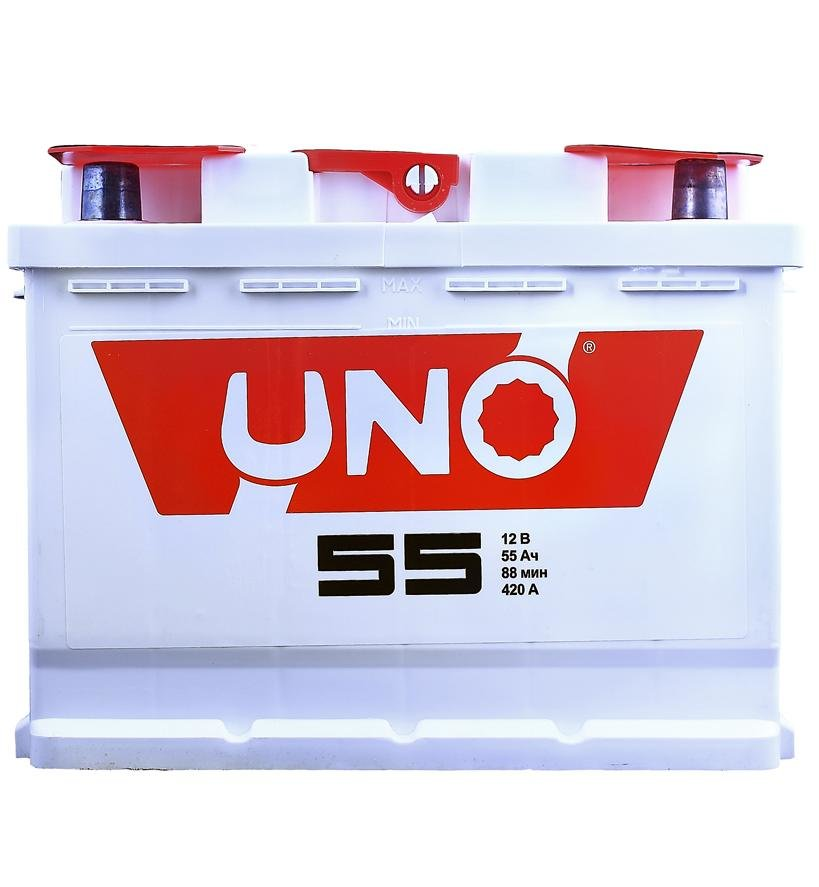 Аккумулятор Uno 6CT-55 55A/h 410A