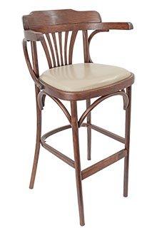 Стул-кресло барный с мягким сиденьем (кофе с молоком) 301415