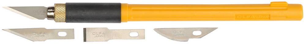 Профессиональный нож для художественных работ + 4 лезвия Olfa OL-AK-4
