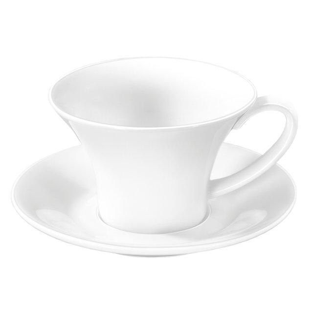 чашка с блюдцем wilmax 100мл фарфор