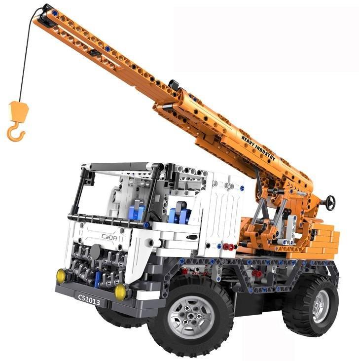 Радиоуправляемый конструктор автокран со стрелой | эвакуатор Cada Technics 2 в 1 - 2.4G - C51013W