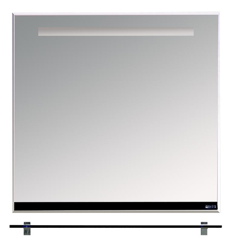 Misty Зеркало с полочкой Джулия Л-Джу03085-0210, черное стекло
