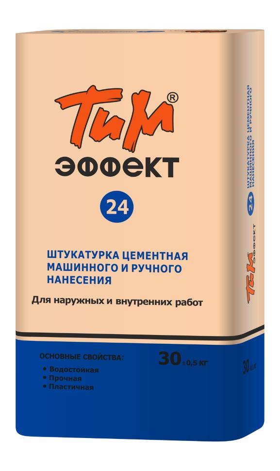 Штукатурка Технология и материалы ТИМ №24 эффект, (30кг) Штукатурка цементная машинного и ручного нанесения