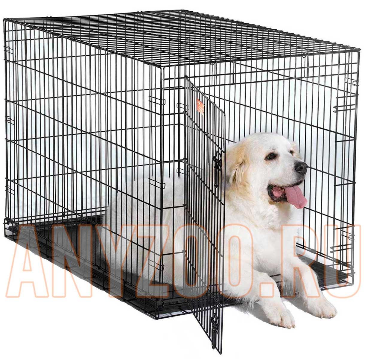 Midwest iCrate клетка для собак, 1 дверь, черная 61*46*48см ( Клетки, вольеры для собак )