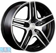 Racing Wheels H-414 6.5x15 4x98 ET35 58.6 BK F/P - фото 1