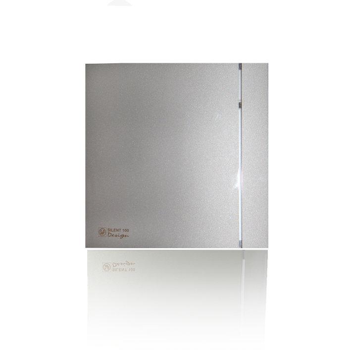 Накладной вентилятор Soler & Palau SILENT-100 CHZ DESIGN SILVER (датчик влажности)