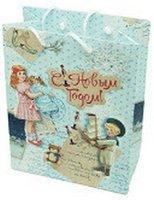 Пакет Яркий праздник 16308 дети с подарками 260x324x127мм