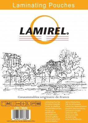 Пленка Fellowes LA-78656 для ламинирования Lamirel А4, 75мкм, 100шт