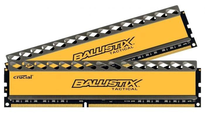 Оперативная память 8Gb (2х4Gb) DIMM DDR3 1866MHz Crucial Ballistix Tactical BLT2CP4G3D1869DT1TX0CEU, RTL