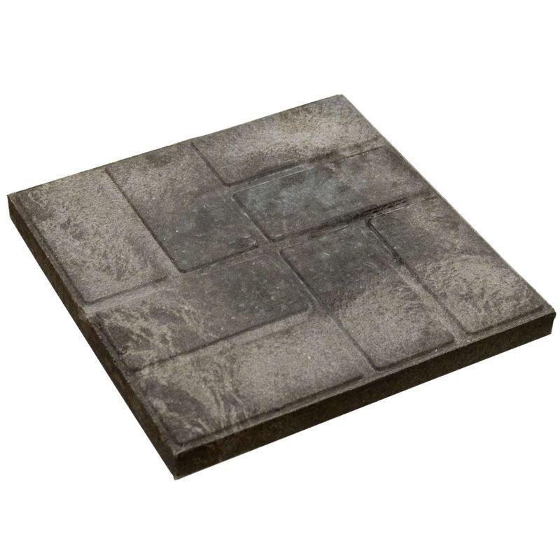 Плитка тротуарная полимерпесчаная 330х330х30 мм коричневая