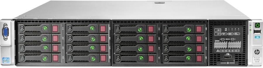 Сервер HP DL380p Gen8 E5-2640 (2.5GHz-15MB) Six Core (2 max) / 4x4GB RDIMM / P420i (1Gb) FBWC RAID 0,1,1+0,5,5+0 / HP-SAS/SATA (8/16 SFF max) / 4 RJ-45 / 1(2) 460W HotPlug RPS Platinum Plus / 3-3-3 war (642107-421)