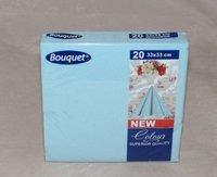 """Салфетки бумажные, двухслойные """"Bouquet"""", голубые, 33х33 см (20 штук)"""