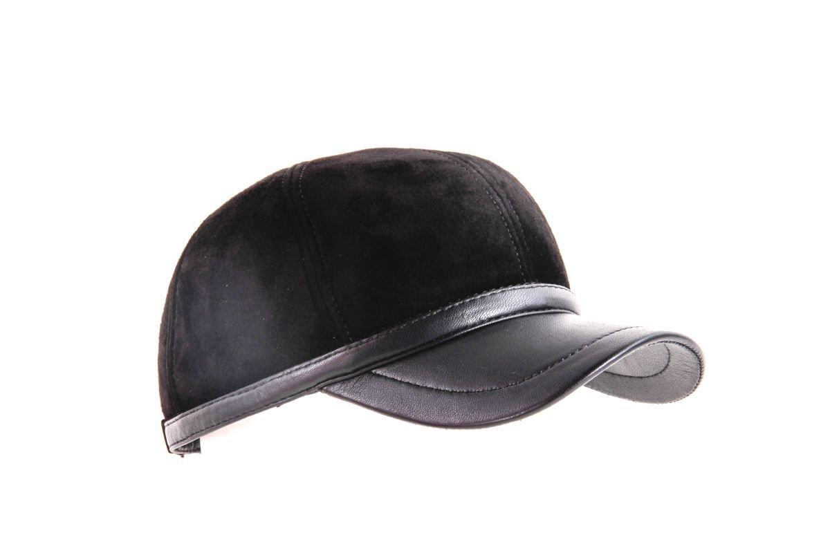 Бейсболка Старкоff Кепка Бейсболка замша черная с мехом