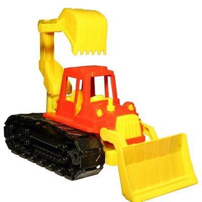 Детские игрушки Нордпласт Трактор «Байкал» с грейдером и ковшом на гусеницах