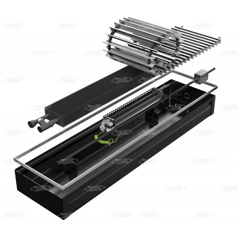 Конвектор внутрипольный с вентилятором Металлоизделия УЮТ-В 380x100x1500