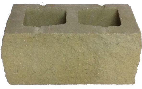бетонный блок для забора желтый