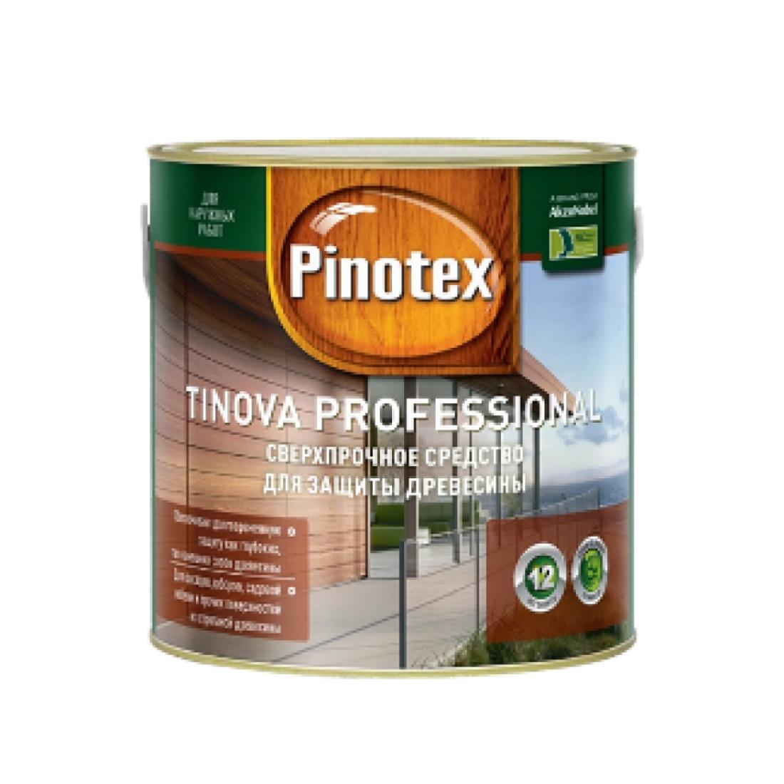 PINOTEX TINOVA цветной антисептик для профессиональной защиты, гарантия 12 лет! (5л) Махагон