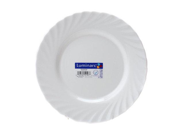 тарелка luminarc trianon 24см обеден. ударопр. стекло