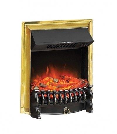 Вертикальный очаг электрокамина Royal Flame Fobos FX Brass с обогревом