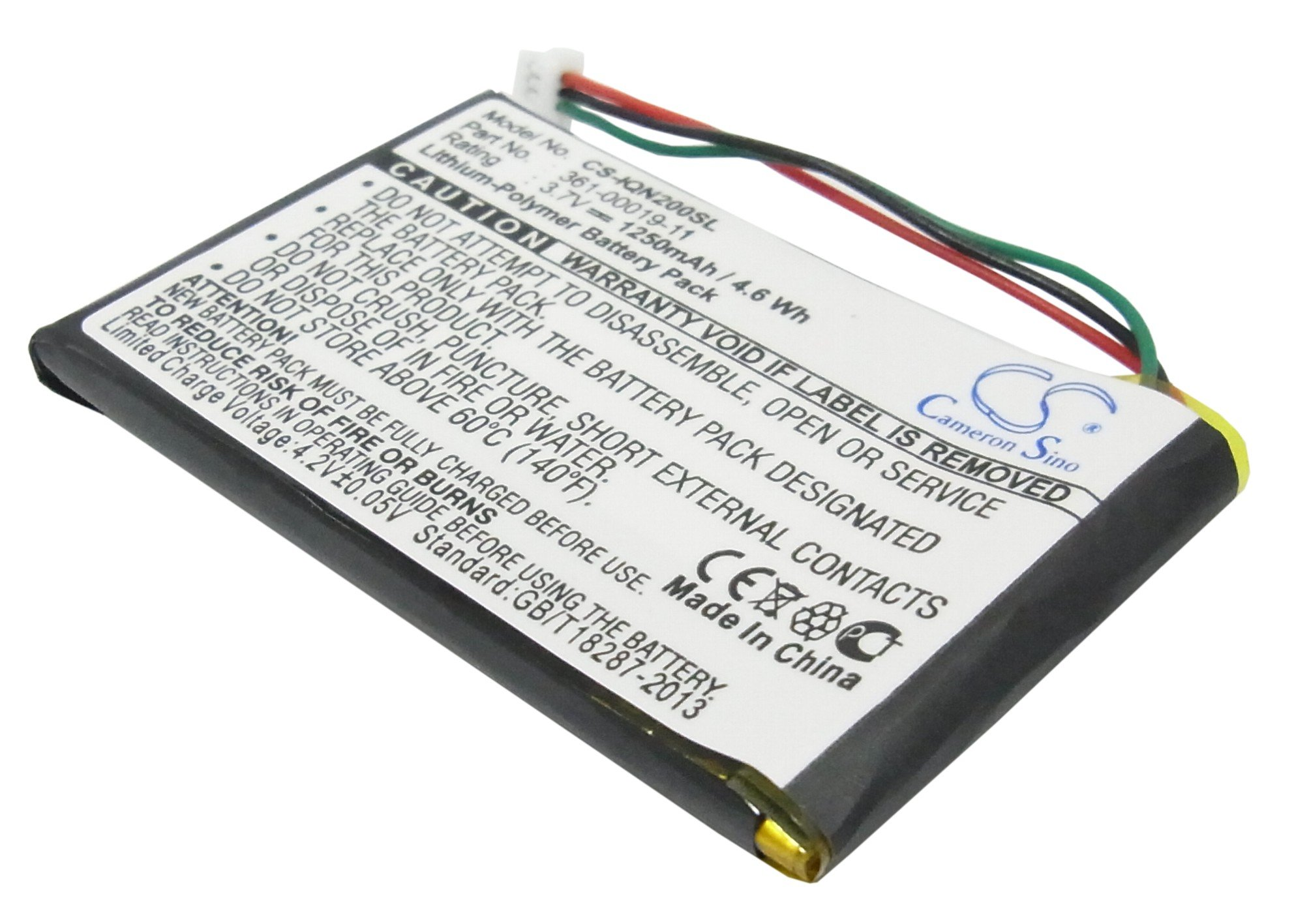 Cameron Sino Аккумулятор для GPS-навигатора Garmin 361-00019-11, 010-00583-000 3,7V 1250mAh код 008.01004