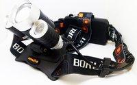 Налобный аккумуляторный светодиодный фонарь BL 3001-T6 с регулировкой угла свечения