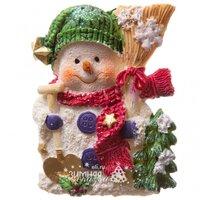 Koopman Новогодний магнит Снеговик с лопатой 8 см AAA000841
