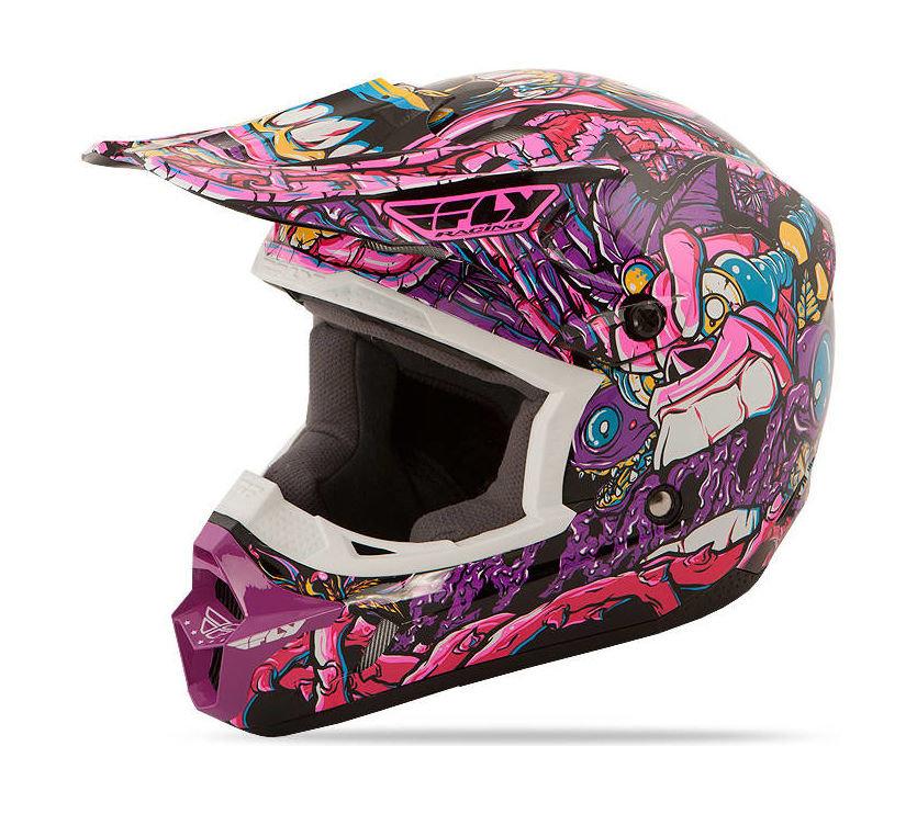 Шлем детский Fly Kinetic Jungle, фиолетовый, S