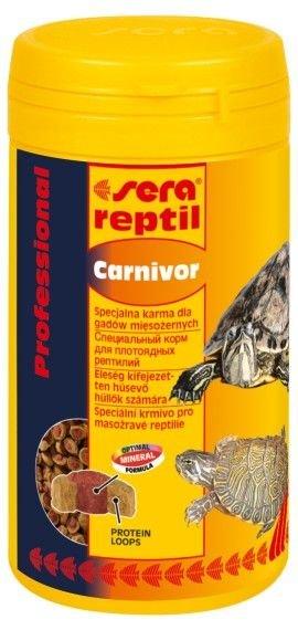 Корм Sera Reptil Professional Carnivor профессиональный для водоплавающих черепах и других плотоядных рептилий в гранулах (10 л)