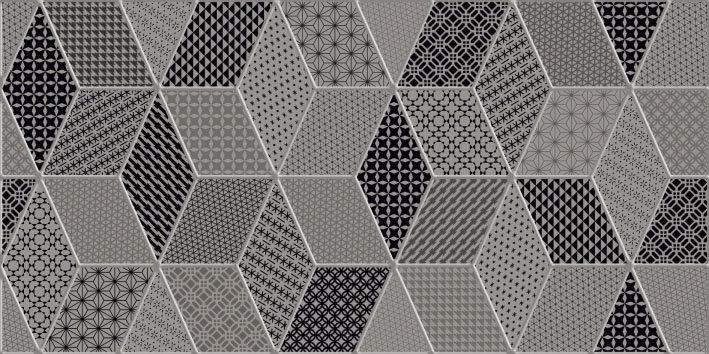 Керамическая плитка Керамин Настенная плитка Тренд 2 тип 1 серая