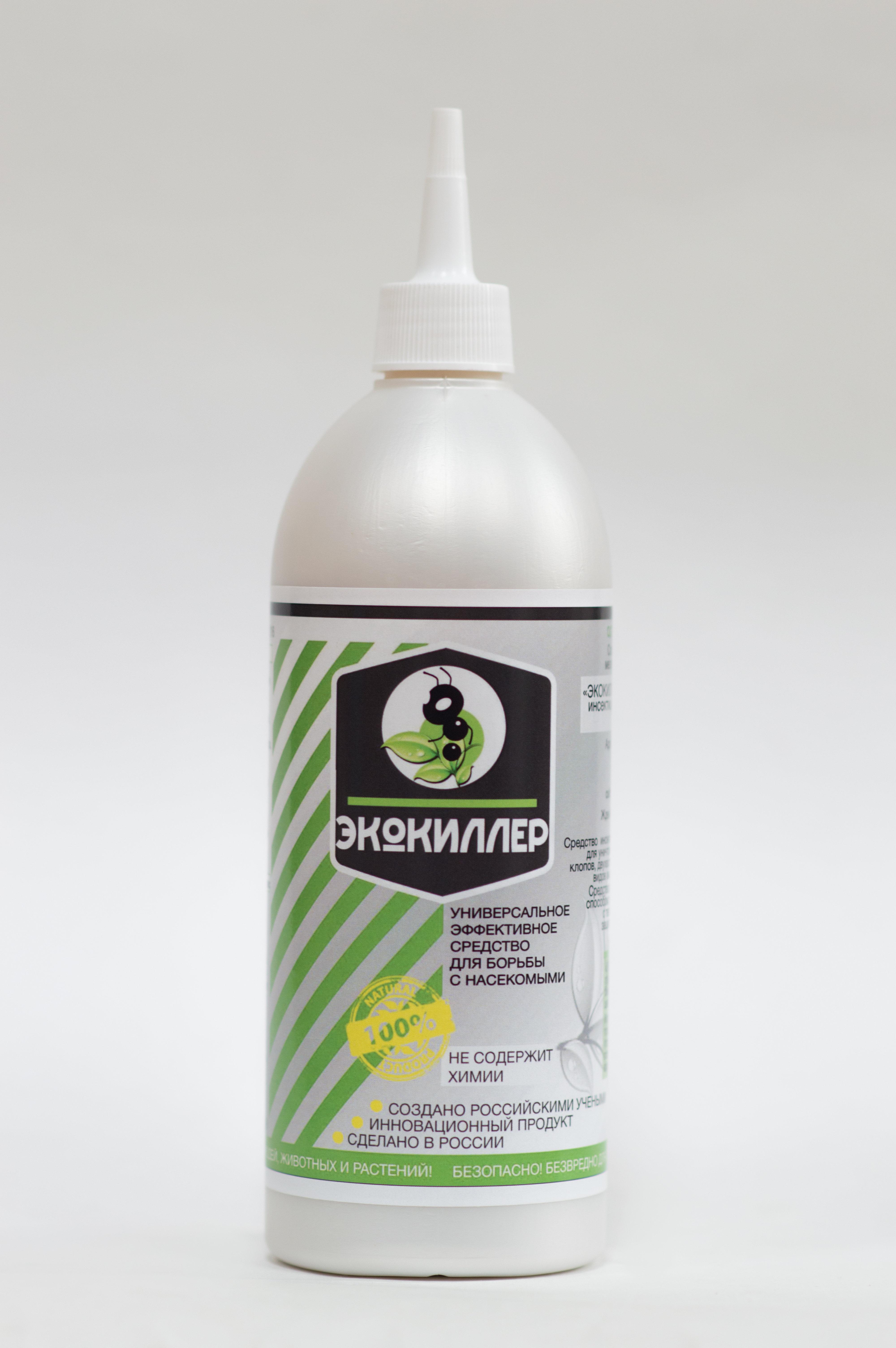Инсектицидное средство Экокиллер 0.5л (на основе диатомита) от клопов, тараканов и садовых муравьев