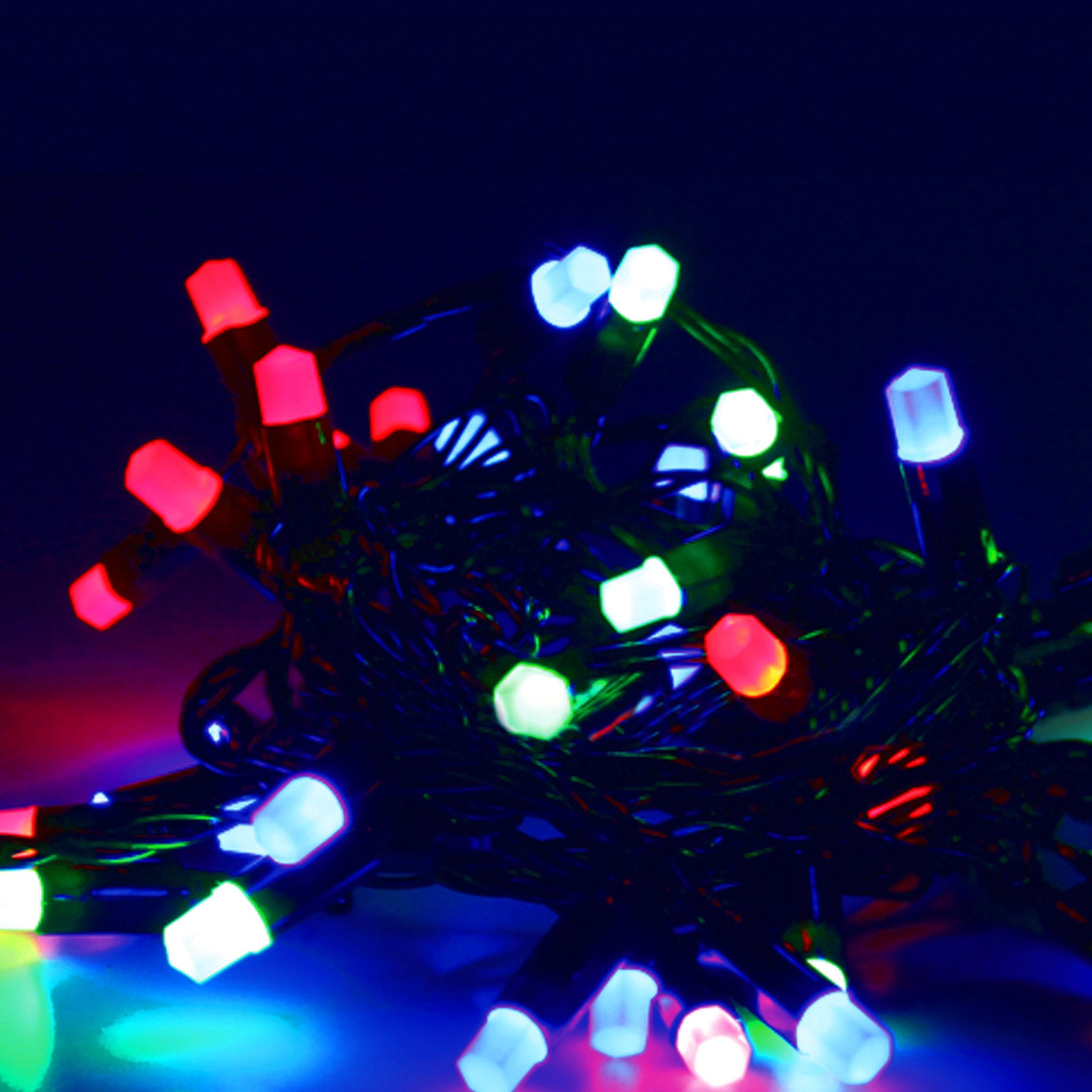 Электрическая гирлянда уличная «Кристаллы», 40 ламп, 8 режимов, мультиколор, 5м