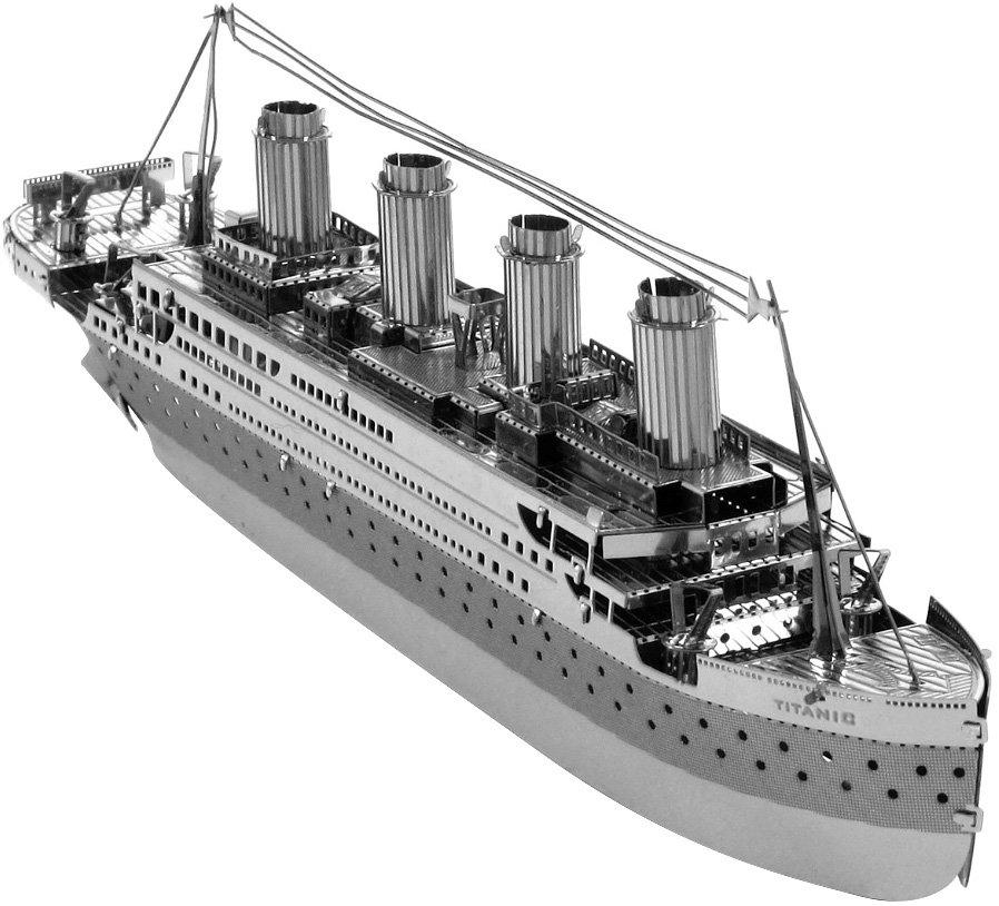 Металлический 3D конструктор-пазл «Титаник»