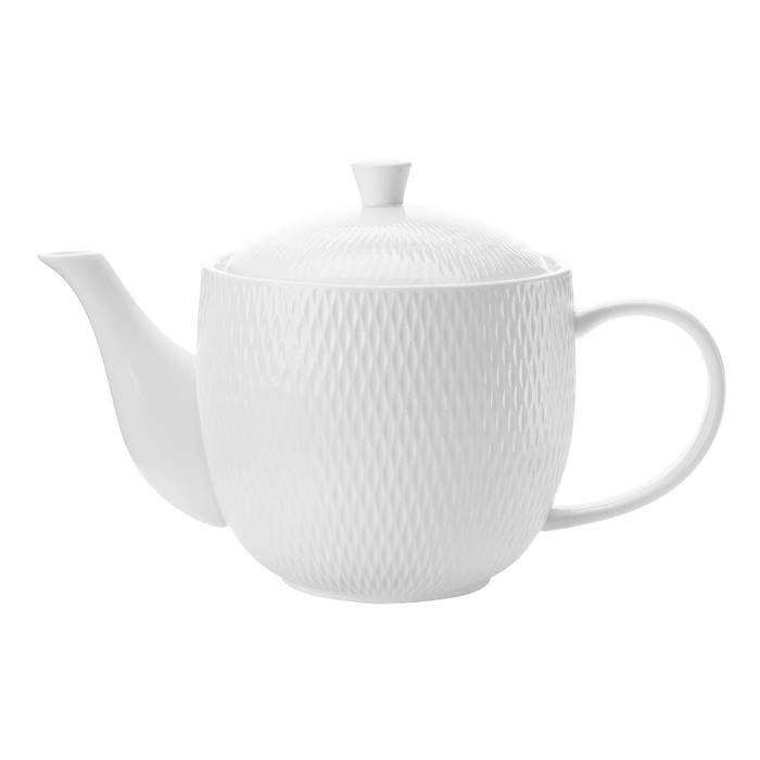 "Maxwell & Williams 688 п-да/чай (Ал) Чайник 0.8л ""Даймонд"" в подарочной упаковке. MW688-DV0064 фарфор"