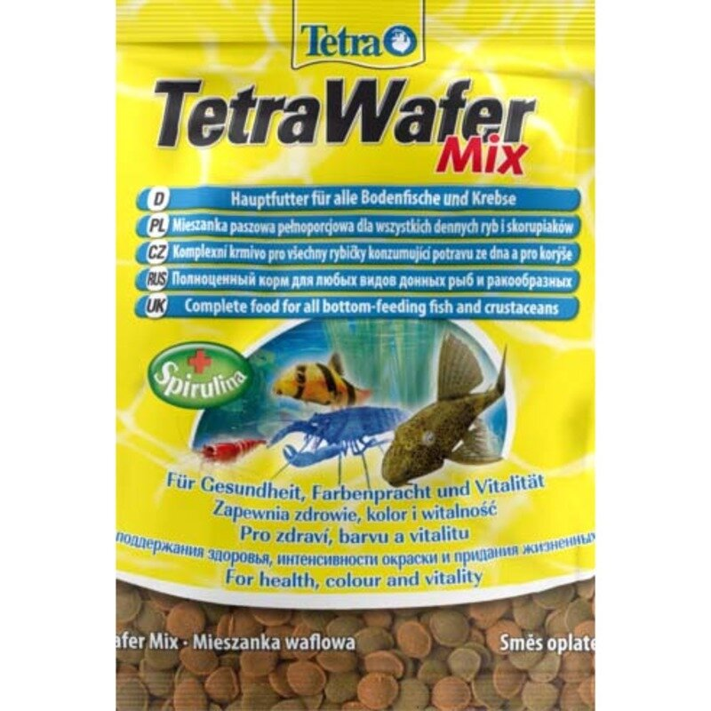 Tetra WaferMix корм в виде чипсов для всех донных рыб - 15 г (саше)
