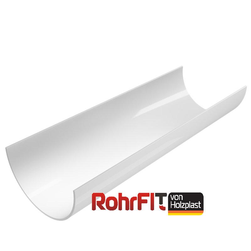 Водосточный желоб ROHRFIT белый (ПВХ) (3м)