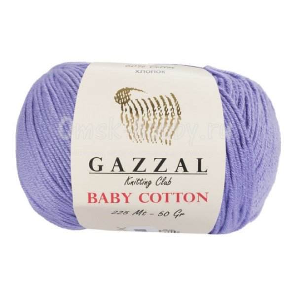 Пряжа Gazzal Baby Cotton (3420 сирень)