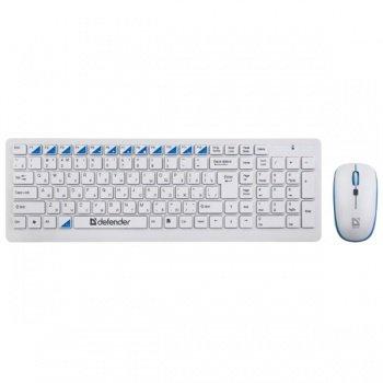 Комплект клавиатура+мышь Defender Skyline 895 (45895) White USB