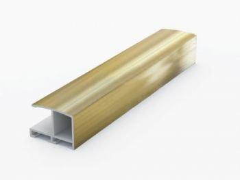 Анодированный алюминиевый профиль.3.05 м. Золото Глянец №62 Nielsen 62001