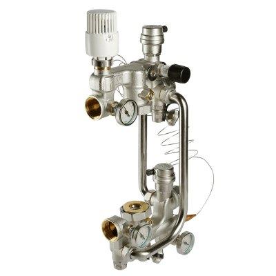 Насосно-смесительный узел для водяного теплого пола без насоса, монтажная длина насоса 180 мм VALTEC combimix VT.COMBI.0.180