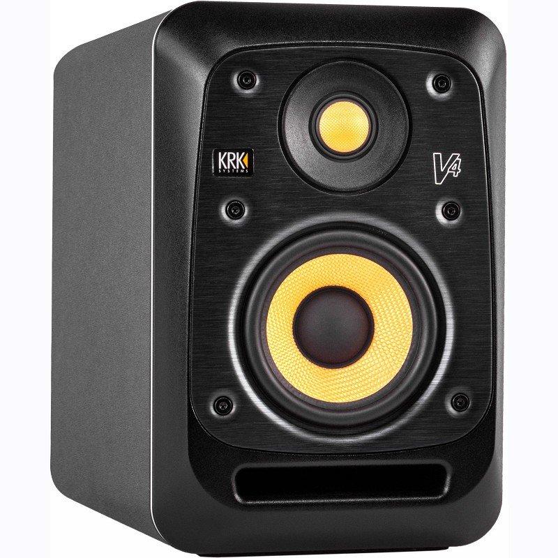 KRK SYSTEMS KRK V4S4 Активный 2-х полосный (Bi-Amp) 4-ти дюймовый студийный монитор, черный
