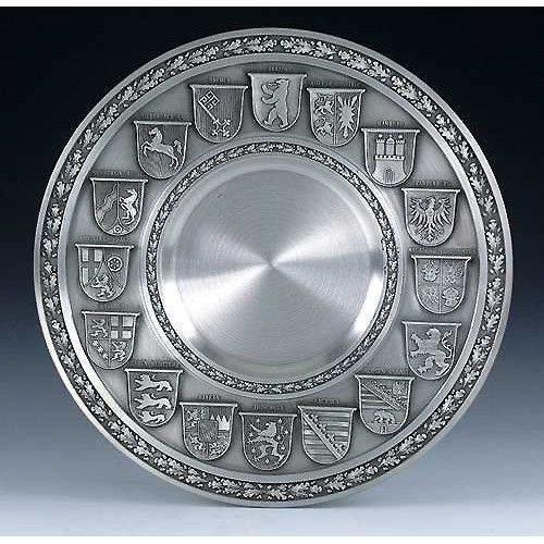 Тарелка декоративная из олова Artina SKS 10099