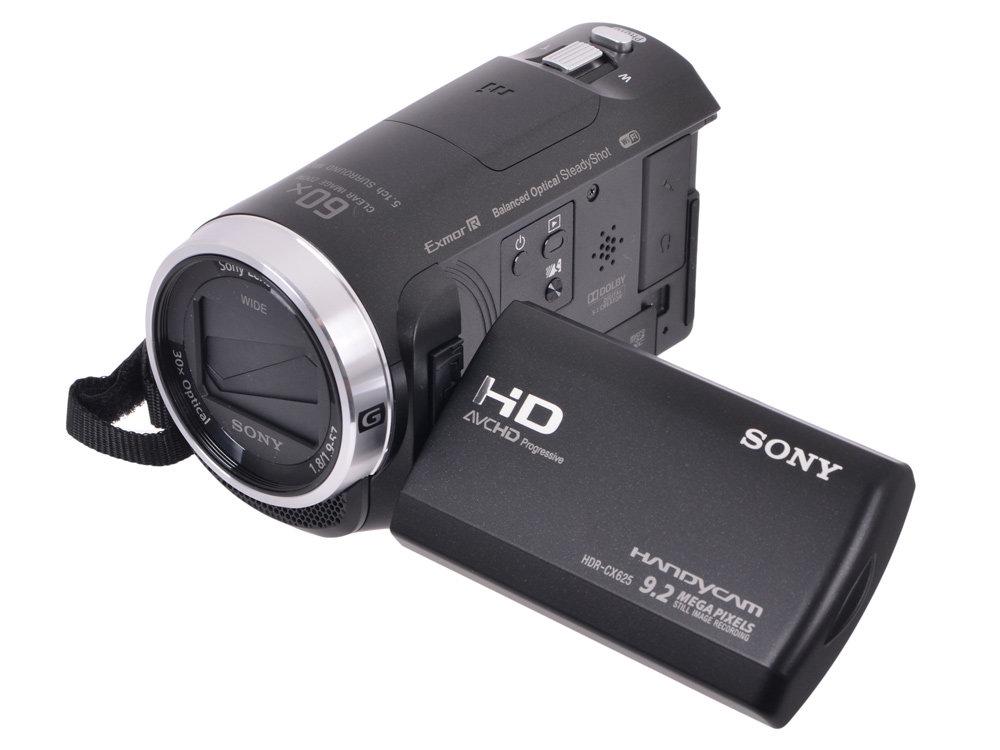 "Видеокамера Sony HDR-CX625B Black <30x.Zoom, 9.2Mp, CMOS, 3.0"", OS, AVCHD/MP4, WiFi, NFC> [HDRCX625B.CEL]"