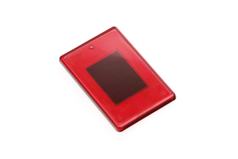 Заготовка акрилового магнита прямоугольная 52х77 мм, красная