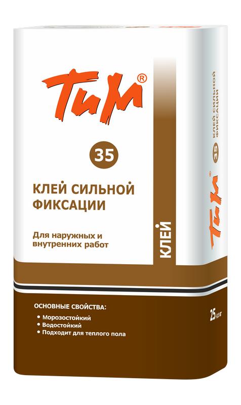 Клей плиточный Технология и материалы ТИМ №35, Клей сильной фиксации
