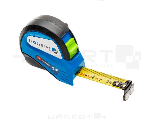 Измерительный инструмент Hoegert technik Рулетка 5м х 19мм, MID с магнитом
